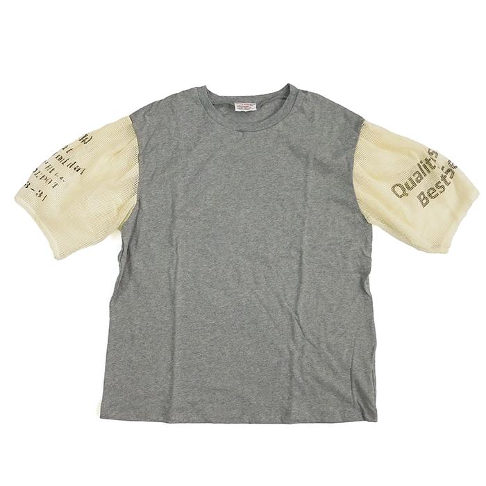 メッシュ袖Tシャツ TOP