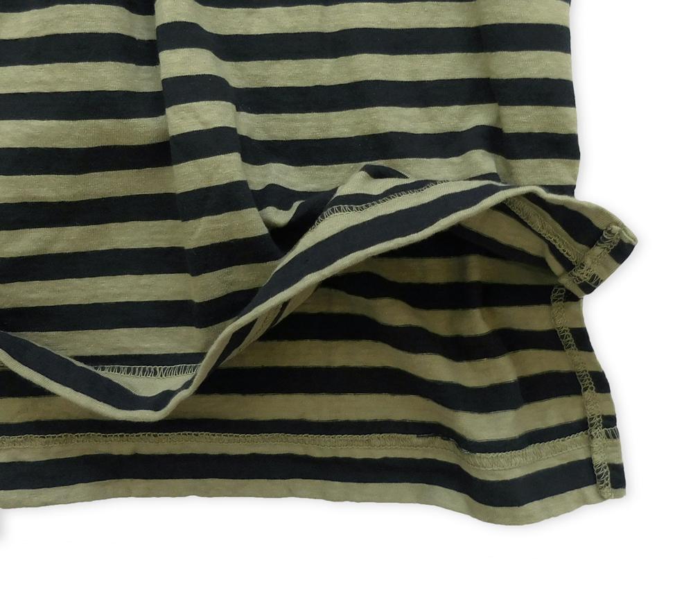7分袖ワイドTシャツ裾