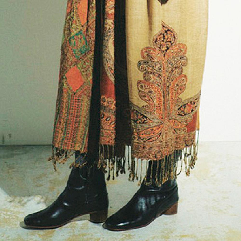 ストールリメイクスカート裾